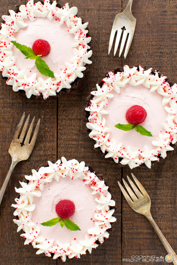 No Bake Raspberry Mousse Tarts