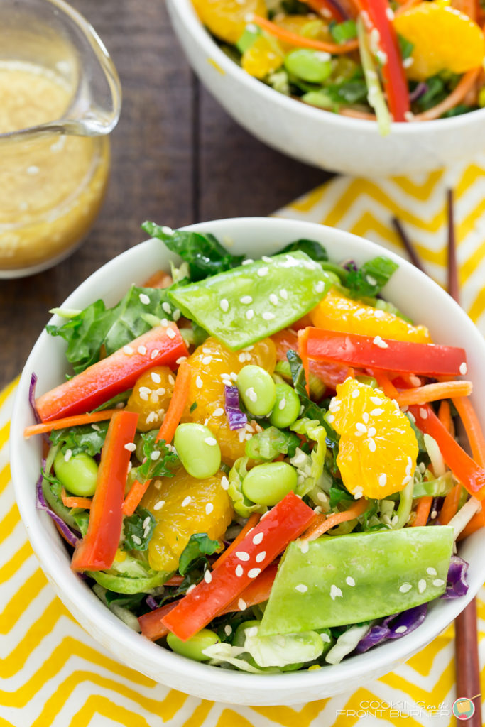 Crunchy Asian Salad with Sesame Ginger Dressing