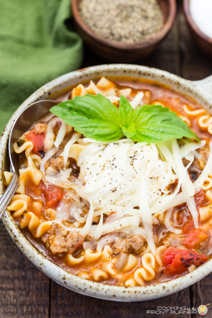 One pot lasagna soup is the perfect quick and easy dinner recipe. If you love lasagna, you will love this soup.