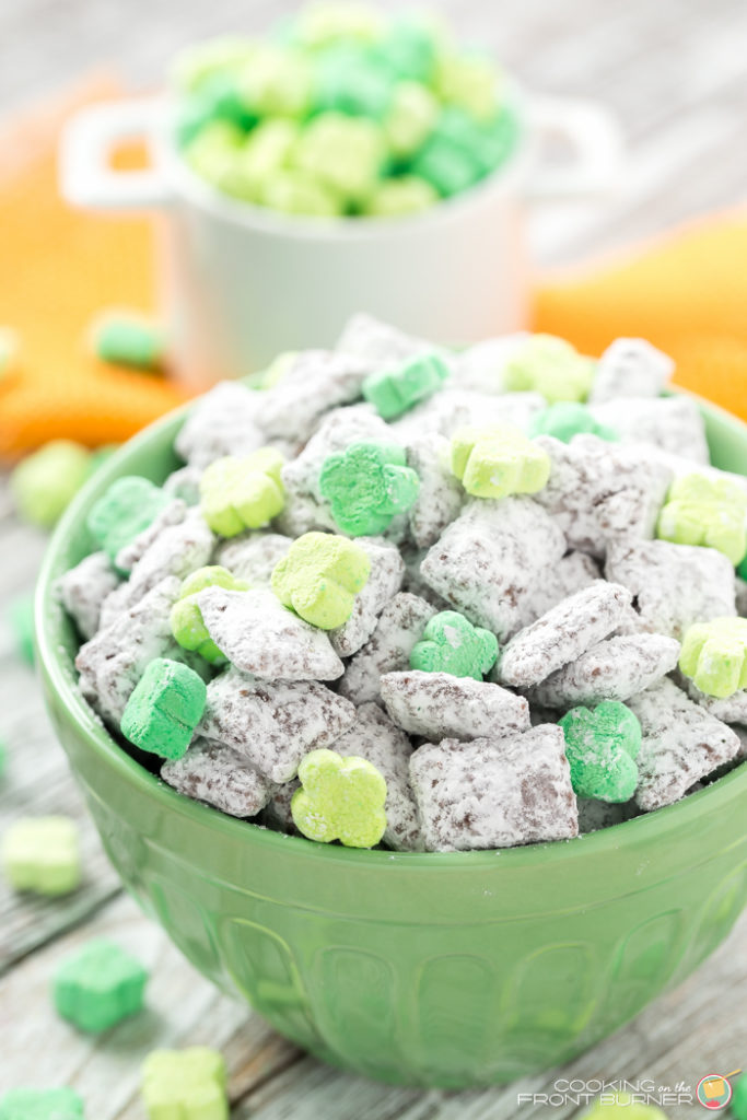Leprechaun Muddy Buddies Peanut Free Cooking On The Front Burner