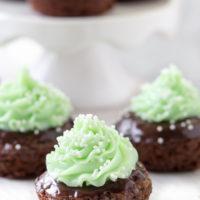 Shamrock Mint Brownie Bites