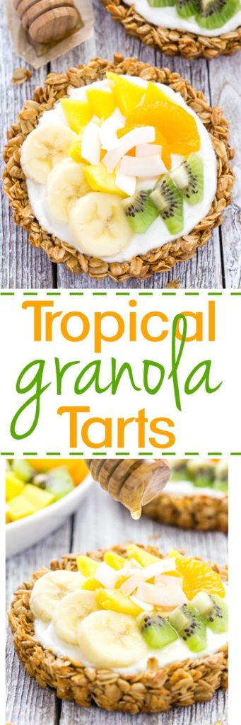 Tropical Breakfast Granola Tarts