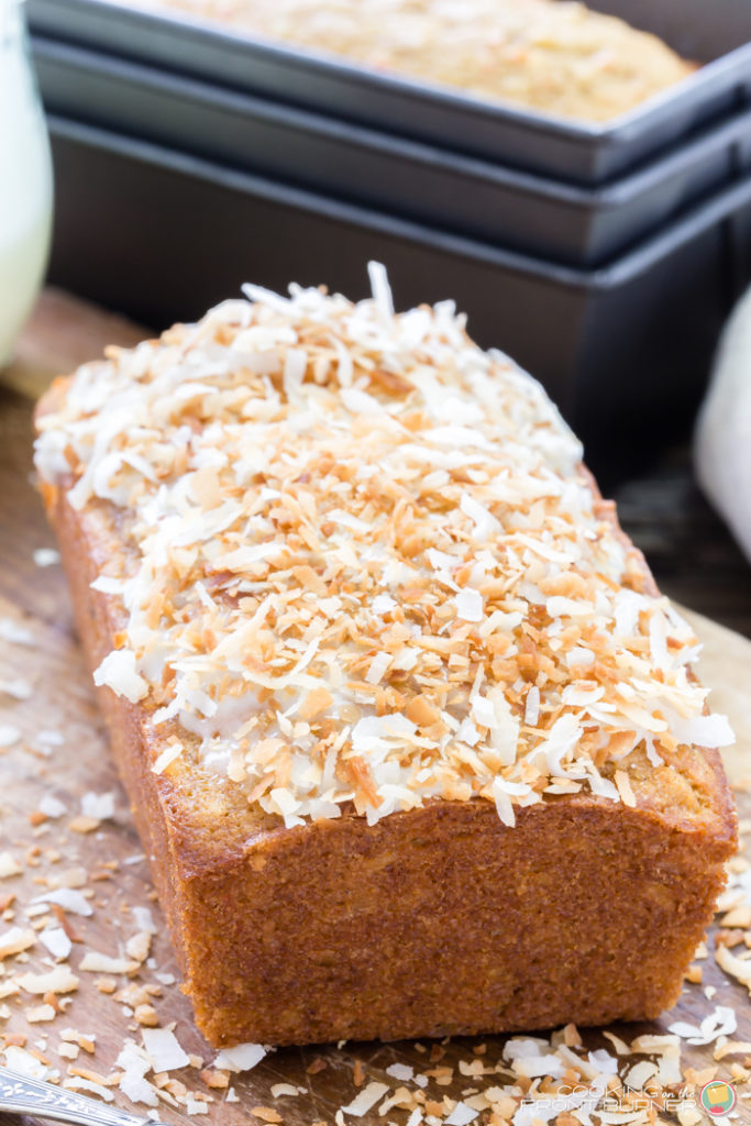 Carrot Coconut Glazed Bread