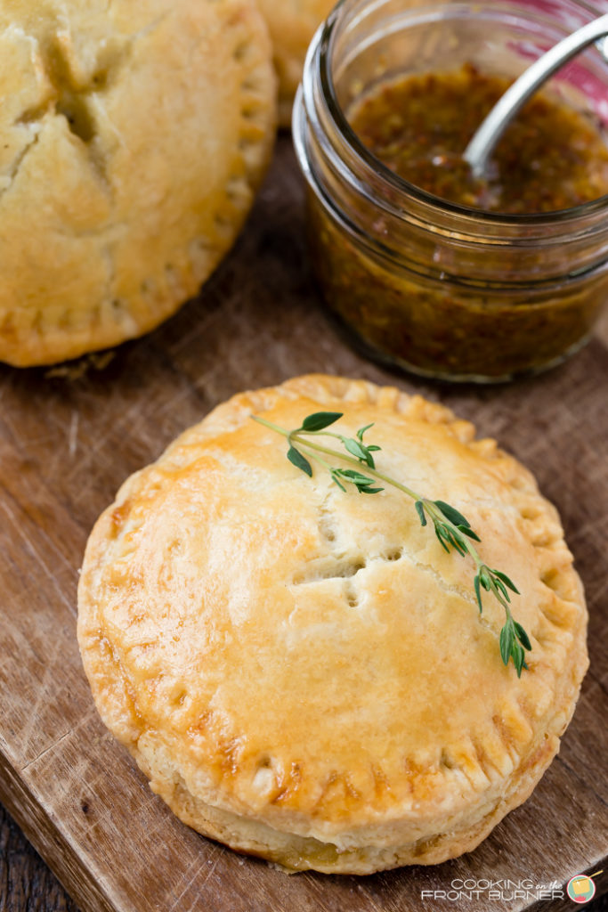 Savory Breakfast Hand Pies with Ham, Brie and a Fig-Mustard spread