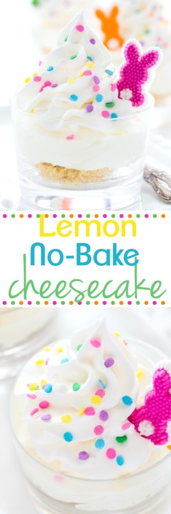 No Bake Mini Lemon Cheesecakes