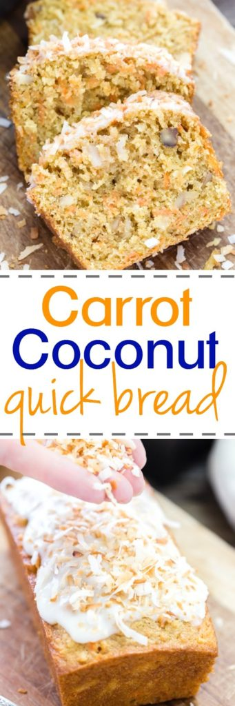 Quick and Easy Carrot, Coconut and Walnut Bread