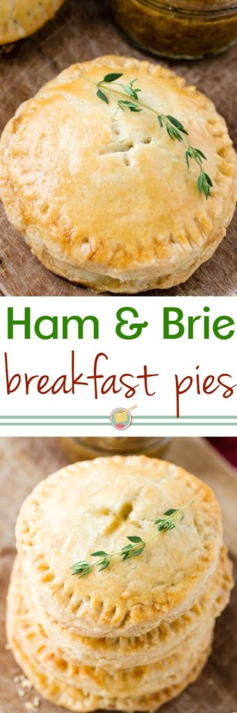 Savory Ham and Brie Breakfast Hand Pies