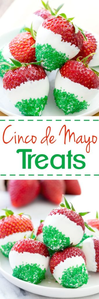 White Chocolate Dipped Strawberries - Cinco do Mayo Style