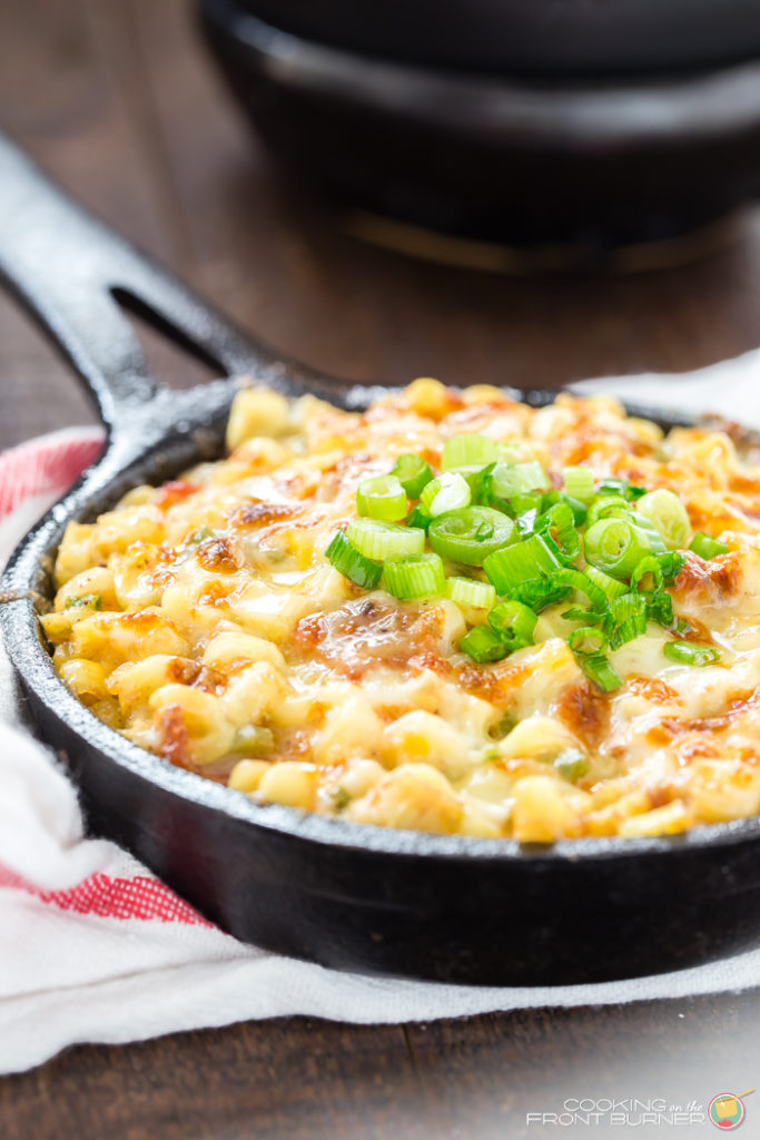 How does an easy side dish with bacon, corn and cheese sound? You'll love this ba'corn cheese skillet recipe!