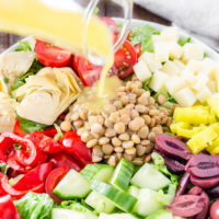 Healthy Italian Lentil Chopped Salad