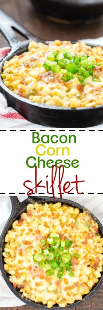 Bacon Corn Cheese Skillet Side Dish
