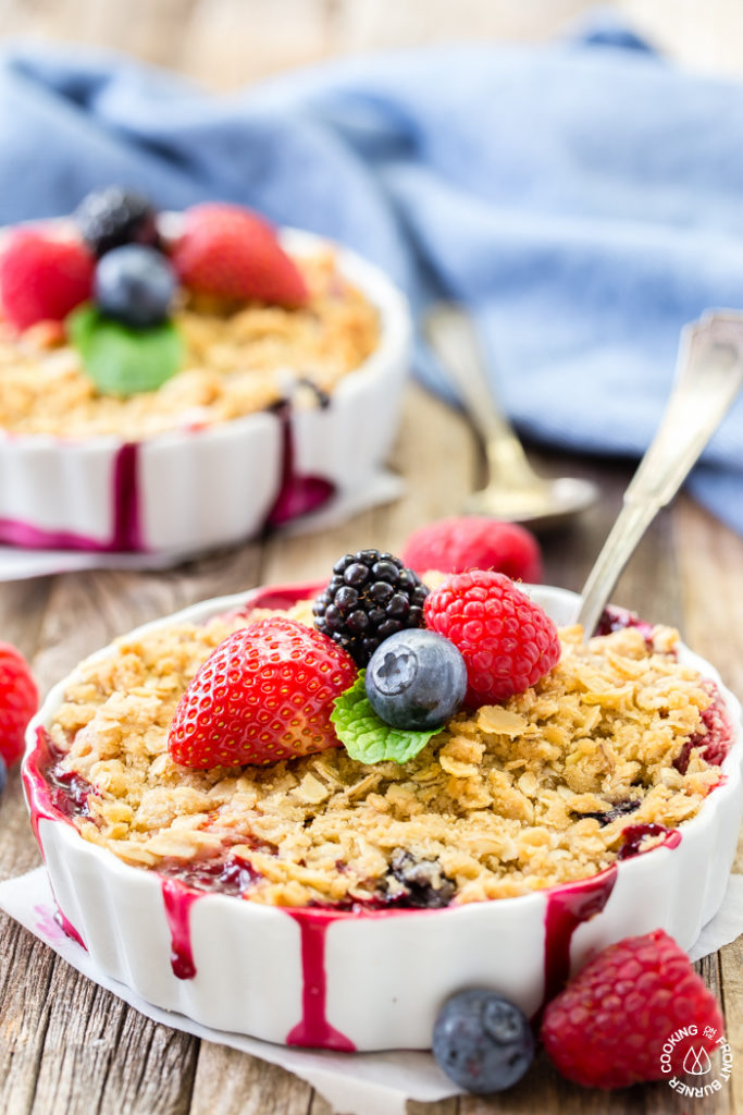 Mixed Berry Crisp Dessert