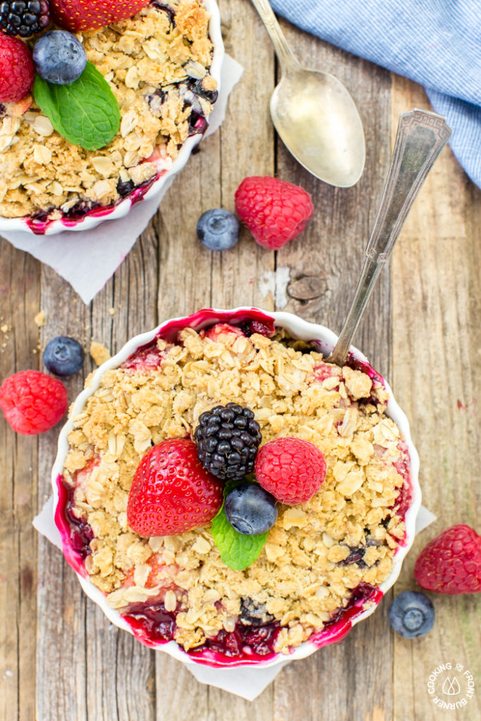 Mixed Berry Crisp - summer dessert
