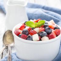 Patriotic Honey Poppy Seed Salad