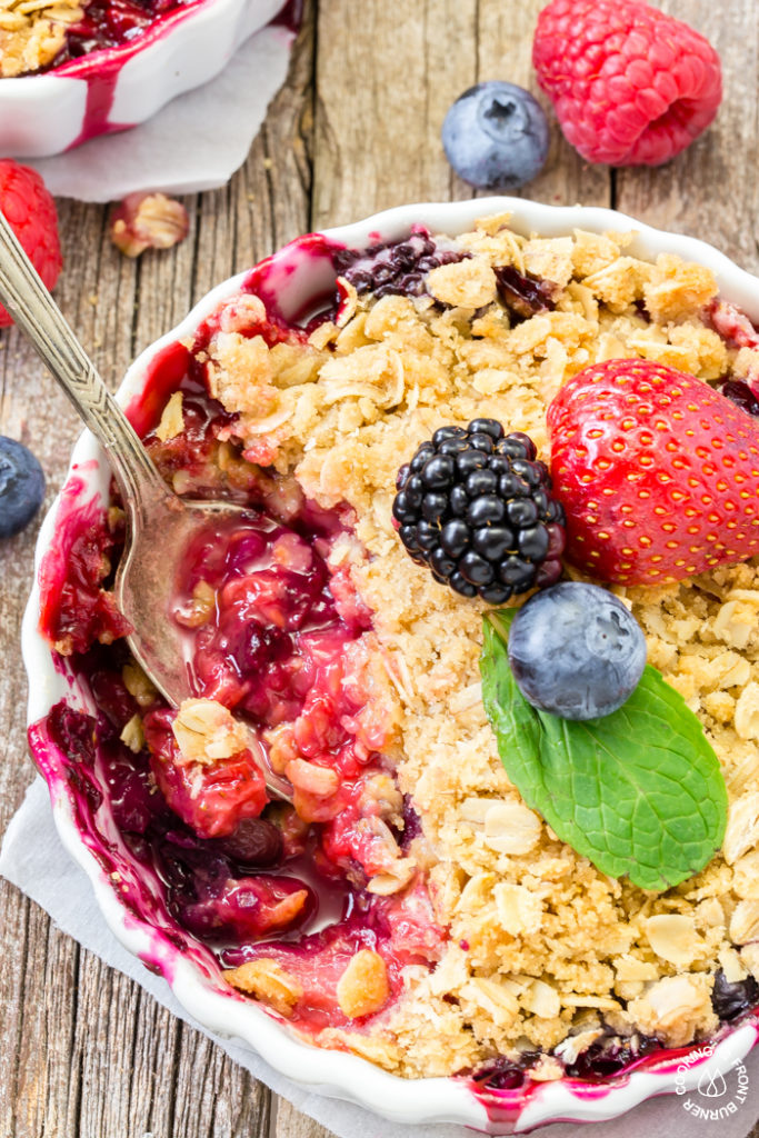 Mixed Berry Crisp - summer dessert with fresh berries