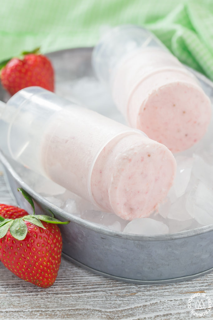 These easy Bourbon Fresh Strawberry Push Ups will become your favorite (adult) summer treat for cooling off!