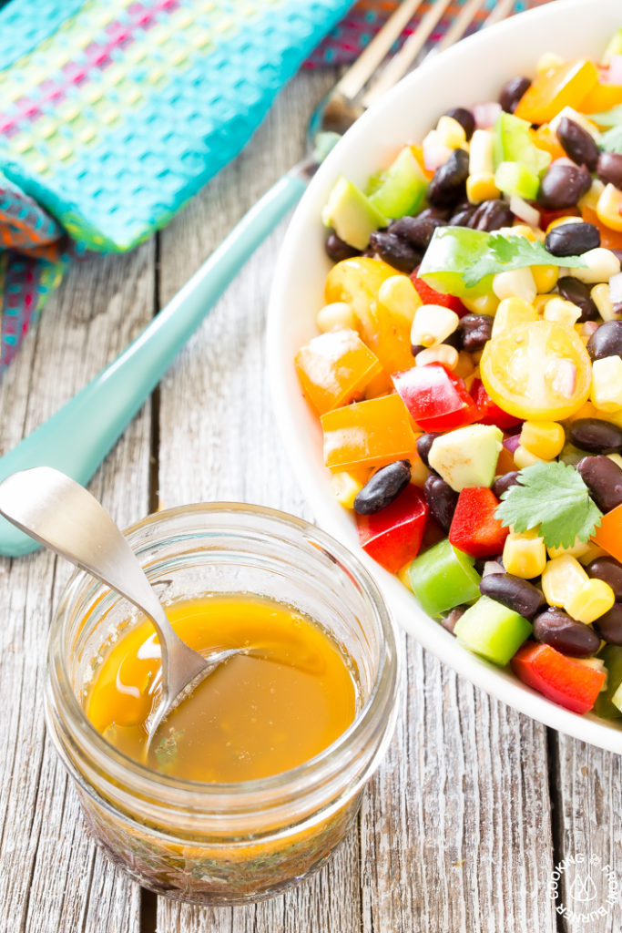 Black Bean Corn Salad with Vinaigrette Dressing