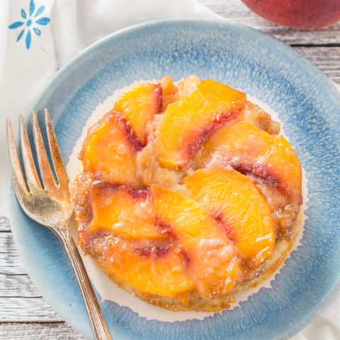 Mini Upside-Down Peach Cake