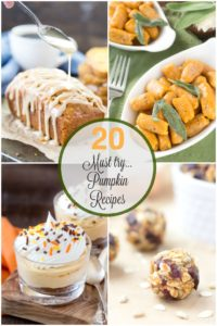 20 Must Try Pumpkin Recipes