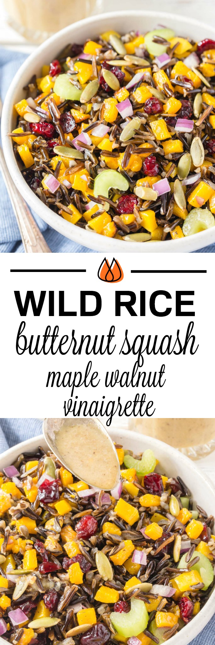 This Wild Rice and Butternut Squash dish is perfect for a holiday side dish!