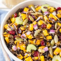 Butternut Squash and Wild Rice Salad