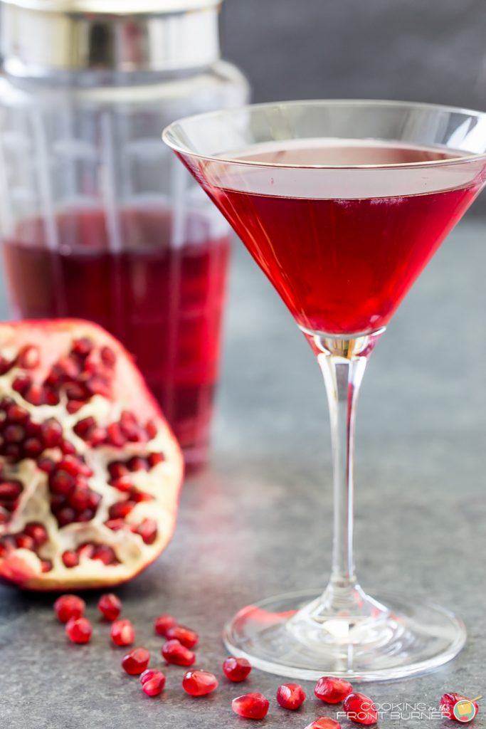 A new holiday martini with Pomegranate!