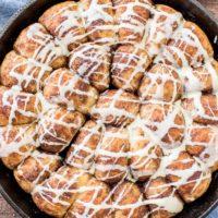 Gingerbread Rolls with Eggnog Glaze