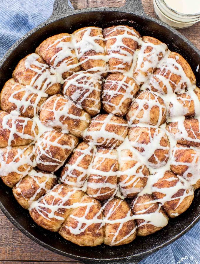 These Gingerbread Rolls with Eggnog Glaze are the perfect holiday breakfast treat! They are so easy to do and make your kitchen smell wonderful while baking.