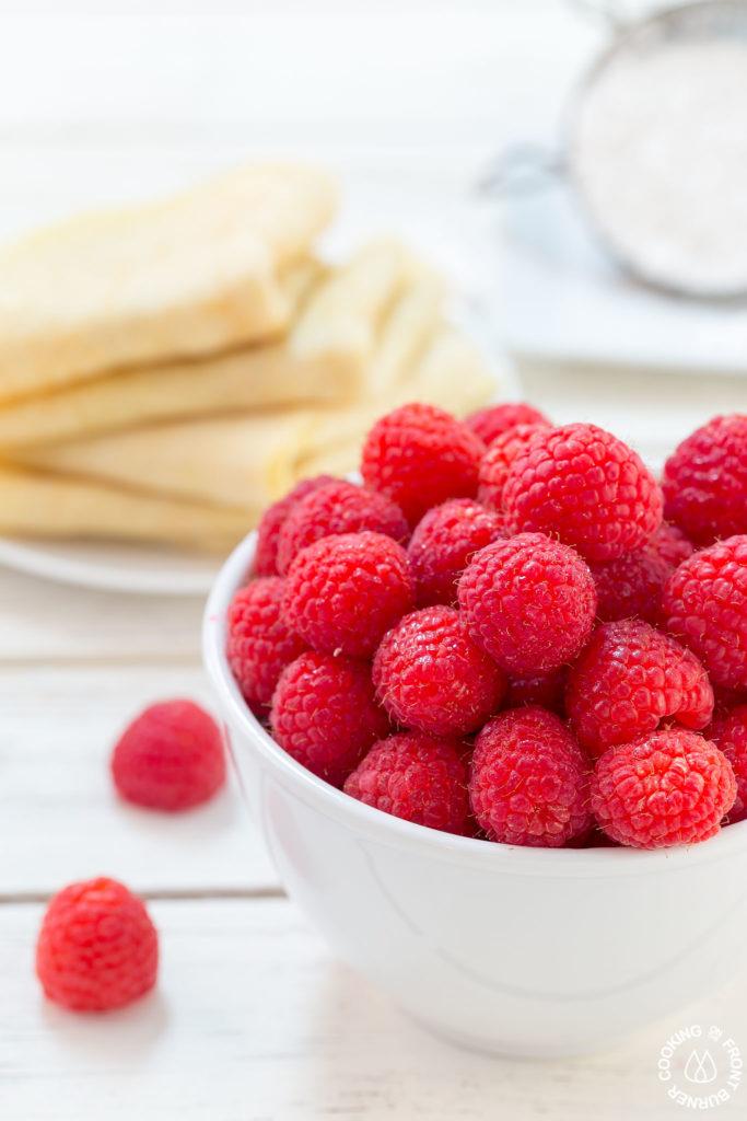 Fresh Raspberries for crepes