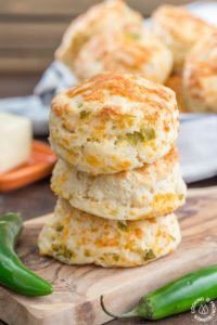 GREEN CHILE CHEDDAR BISCUITS