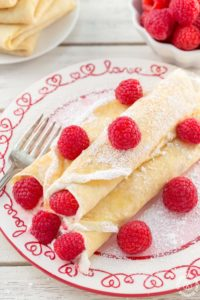 RASPBERRY VANILLA CREAM CREPES