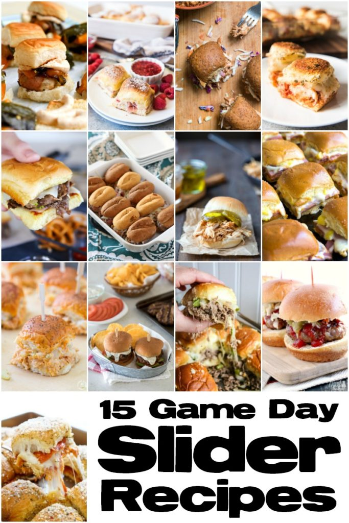 Slider recipes for game day or any day!!