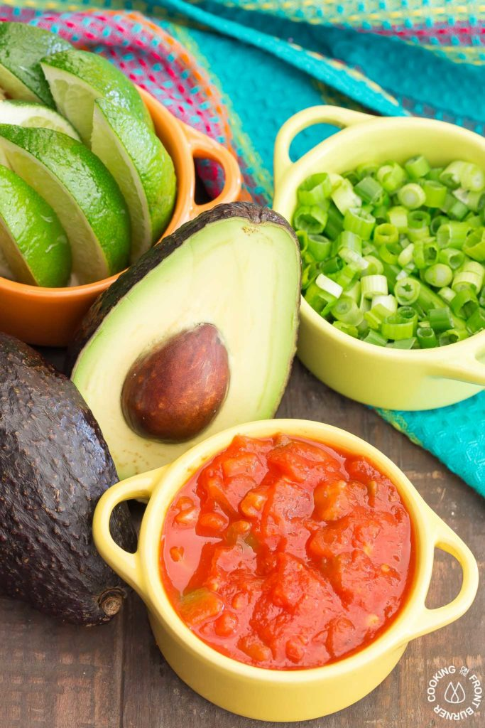 Mexican Breakfast toppings