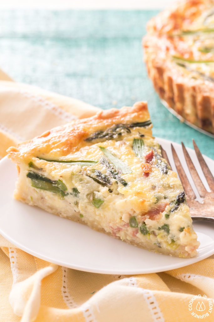 1 slice of quiche