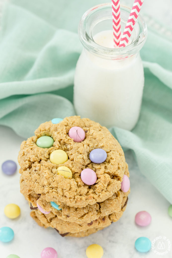 cookies by a glass of milk