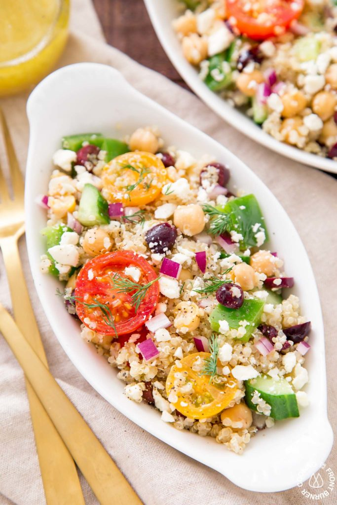 Mixed quinoa salad