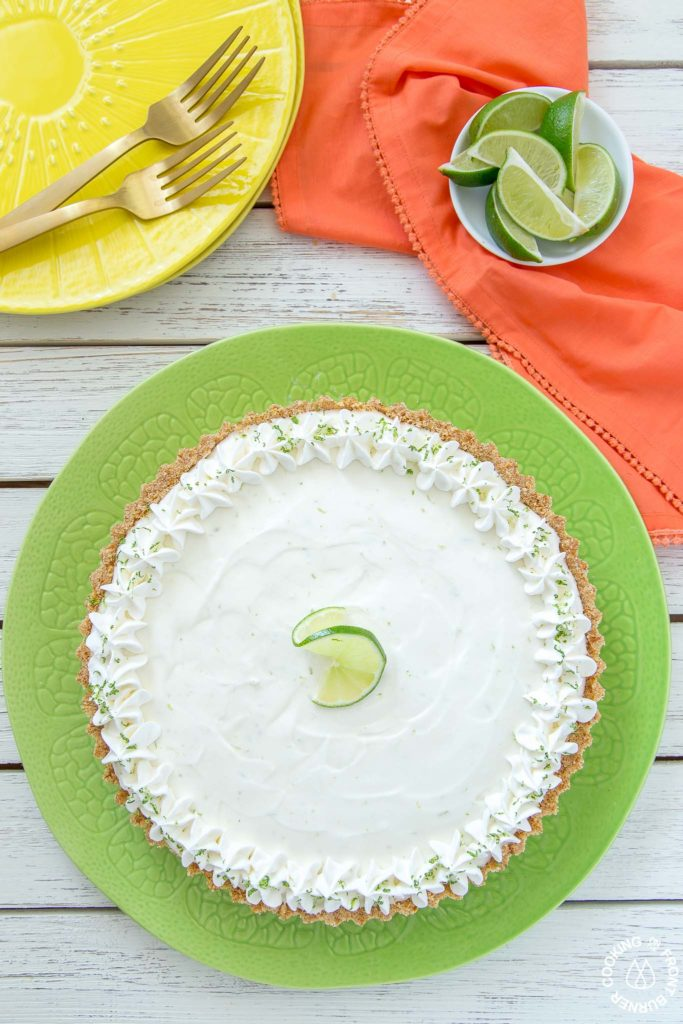 margarita pie on a plate
