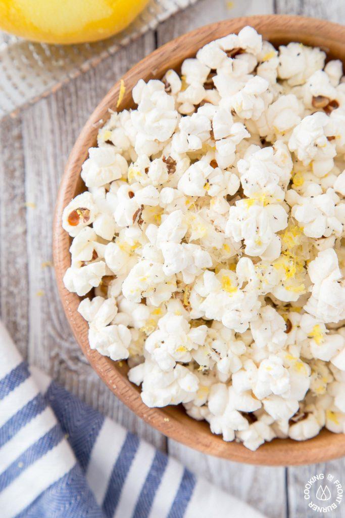 close up shot of popcorn