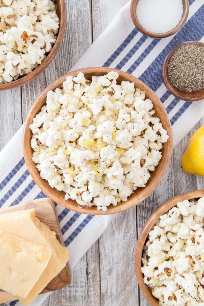 popcorn with parmesan cheese
