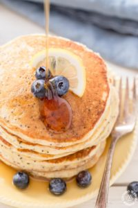 These fluffy and tangy Lemon Ricotta Pancakes are a great way to start the day. Stake them up, drizzle with some syrup and delight your taste buds!