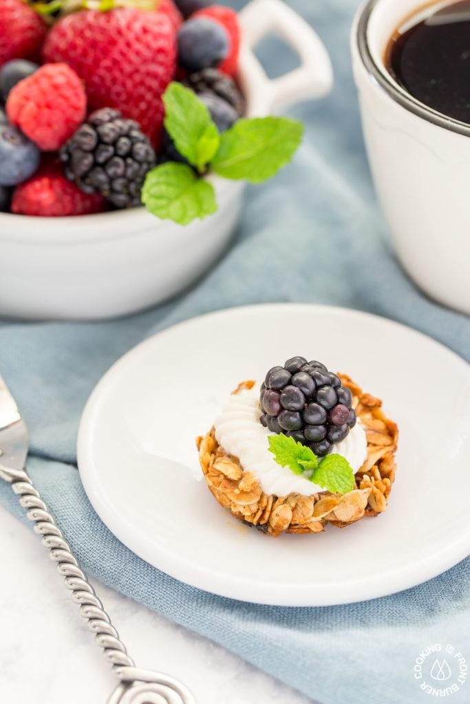 blackberry tart on a plate