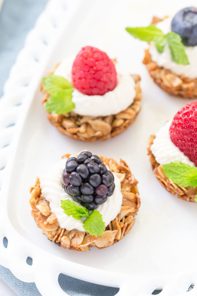 Fruit tarts on a plate