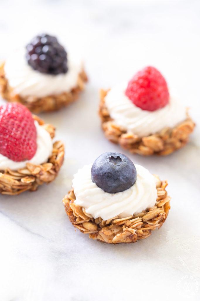 four berry tarts