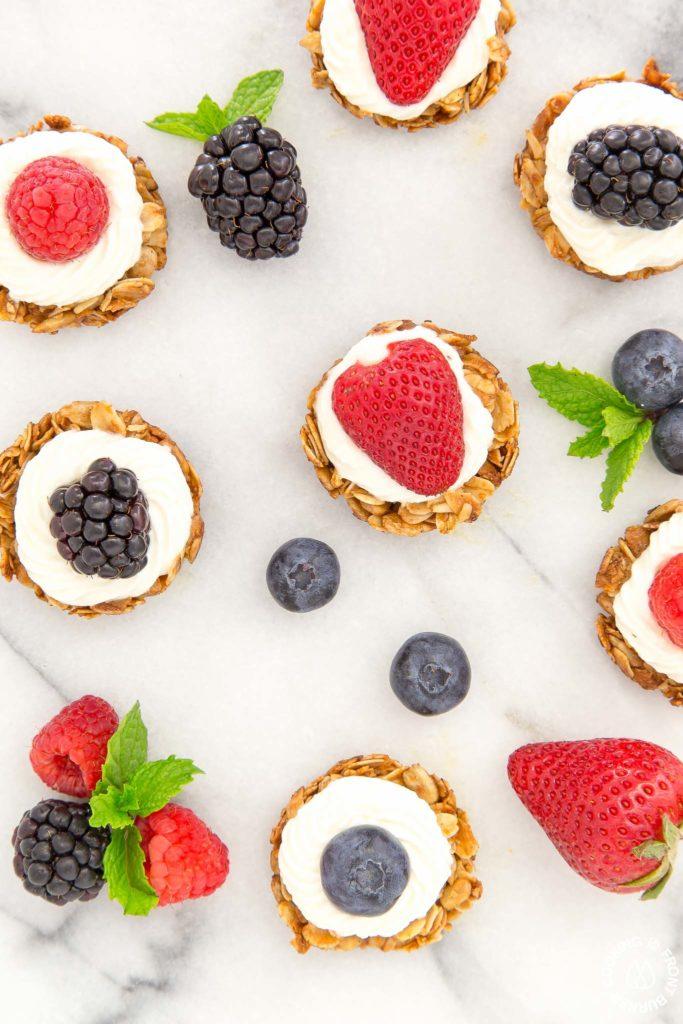 bite size berry tarts
