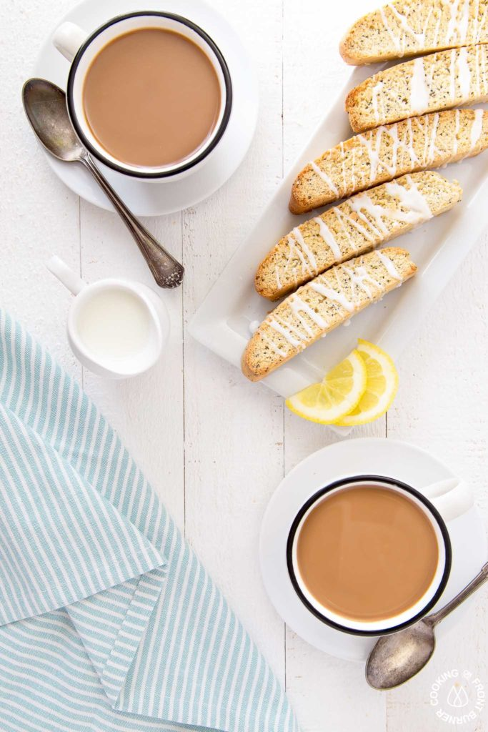 breakfast biscotti with coffee