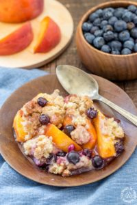BLUEBERRY PEACH SKILLET COBBLER