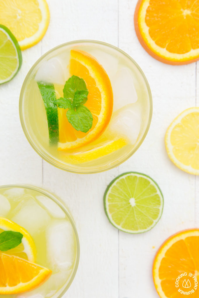 Citrus Ice Cooler in a glass