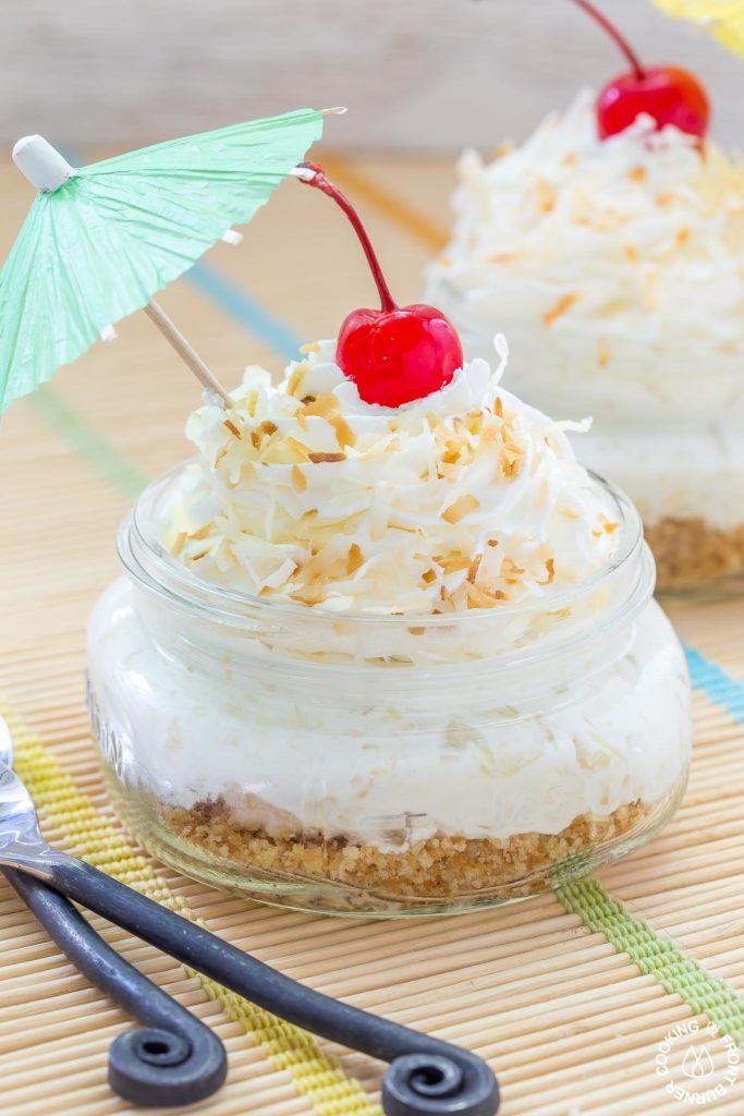 No Bake Pina Colada Pie