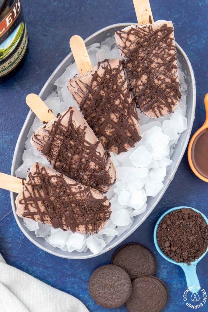 mudslide popsicles in a dish