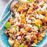 Butternut Squash Apple Quinoa Salad